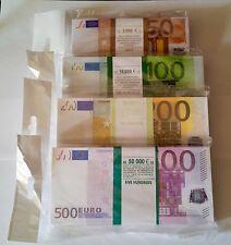 50,100,200,500 euro, SET SOUVENIR BANKNOTE 4 package.NEW.