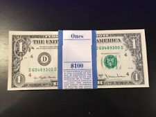 1977A One Dollar ($1) Bill Uncirculated Consecutive Sequential BEP Wrap - 1 Note