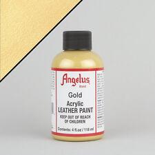 ANGELUS Acrilico Pelle Vernice Oro 4oz (118ml) bottiglia resistente all'acqua non crepa