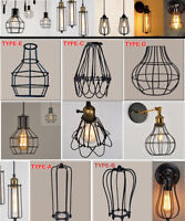 Pendant Lamp Cage Bar Vintage Industrial Ceiling Light Fitting Cafe Lampshade UK