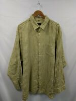 Mens John F. Gee Yellow Check Casual Vintage Flannel Shirt Size 49/50 #2D3