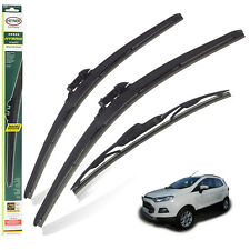 "Ford Ecosport 2013-2018 replacement set of 3 wiper blades HYBRID 22"" 16""10""C"