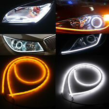 2x 85cm Flexible Car Soft Tube LED Strip Daytime Running DRL Turn Signal Light