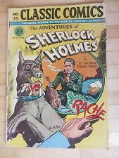 Classic Comics (Illustrated) no 33 1st Edition 1947 Sherlock Holmes