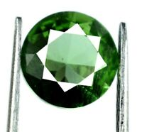 Ceylon 2.20 Ct Round Cut Green Sapphire Natural 8 x 8 mm Gemstone Certified DC76