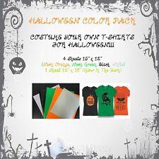 "Heat Transfer Vinyl HTV Halloween Color Pack Sheets 15"" x 12"""