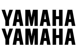 2 YAMAHA Decals, Stickers for Bike, Quad, Outboard. Many Sizes, 18 Colours.