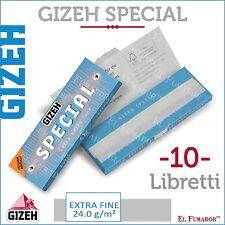 500 Cartine GIZEH SPECIAL CORTE 10 LIBRETTI DA 50 Fogli - EXTRA FINE ORIGINAL
