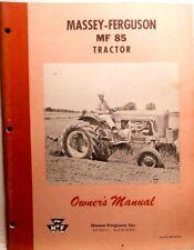 Ferguson MF-85 Tractor, Owner's Manual, Vintage Original 1958