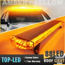 "47""88 LED Emergency Beacon Warn Tow Truck Response Strobe Light Bar Amber Yellow"