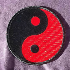 YIN YANG PATCH RED/ BLACK INN YANG EMBROIDERED PATCH CHINESE SYMBOL ZEN DIY