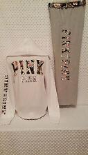 NWOT Victoria's Secret PINK Sequin Bling Tropical Floral Zip-Up Hoodie/Pants M