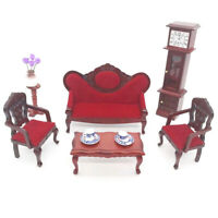 1Set 1:12 Scale Dollhouse Miniature Sofa Set Doll House Living Room Model Toy DD