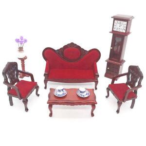 1Set Puppenhaus im Maßstab 1:12 Miniatur-Sofagarnitur Puppenhaus Wohnzimmer M DM