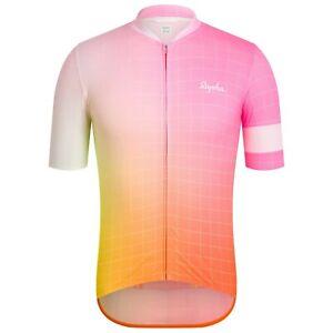 NEW Rapha Men's Cycling Jersey Fade Print Classic Flyweight XXL RCC Pink White