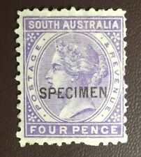 South Australia 1883-99 4d Pale Violet Specimen SG184s MNH Or MVLH