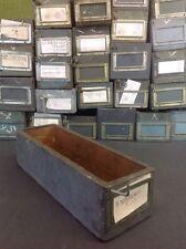 Antique bibliothèque tiroirs vintage boîtes en bois de stockage des archives set de tiroirs