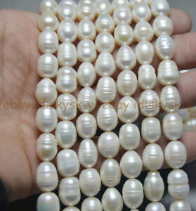 """Natural 11-12mm HUGE White South Sea Baroque Real Pearl Loose Beads 14.5"""""""