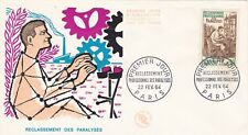 FRANCE 1964 FDC RECLASSEMENT DES PARALYSES YT 1405