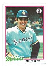 1978 Topps #166 Carlos Lopez Seattle Mariners