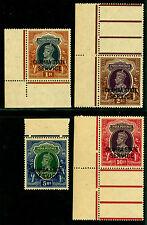 INDIA 1940 CHAMBA KGVI -SERVICE stamps- high values sheet margins Sc#O51A-54 MNH