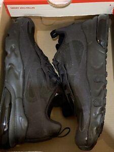 Nike Air Max 270 RT BQ0102-004 Kid's Size 2Y Triple Black NIB Jordan React
