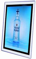 New Crystal Ultra Slim Acrylic LED Light Box,Photo Display,Slimline Sign Size A2
