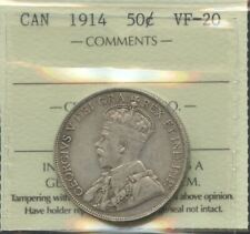 1914 Fifty Cents - ICCS VF-20 Key Date