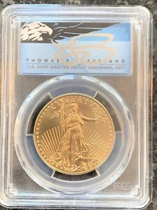 2020 $50 1oz Gold Eagle PCGS MS70 First Day of Issue Thomas Cleveland