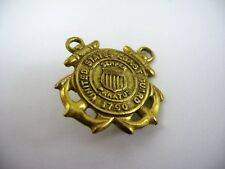 Vintage Collectible Pin United States Coast Guard Double Anchor Design Screwback