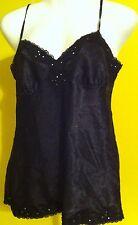 No Boundaries black polyester chemise babydoll top SEXY size Juniors 7/9 Medium