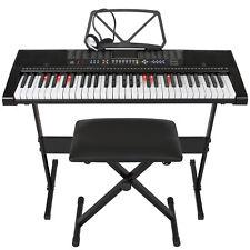 Best Choice Products 61-Key Electronic Keyboard Set - Black
