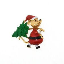 Christmas Brooch Butler & Wilson Mouse with Xmas Tree Novelty Pin