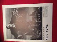 m12r ephemera 1969 film picture pin ups of the past king kong