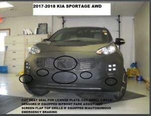 Lebra Front End Mask Cover Bra Fits KIA SPORTAGE AWD 2017-2019