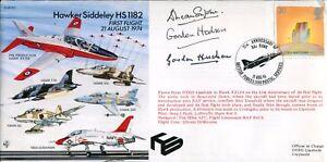 Hawker Siddeley Hawk Test Pilot & Design team signed aviation cover