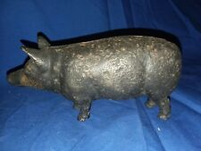 Vintage Cast Iron Standing Pig Bank