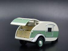 Teardrop Travel Trailer Camper Canned Ham 1:64 Scale Diorama Diecast Model Car