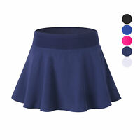 Womens Athletic Tennis Yoga Flounce Skirts with Attached Shorts Slim fit Dri-fit