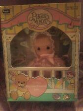 My First Precious Moments Baby Doll Pink Sleeper Blond Hair 1992 New