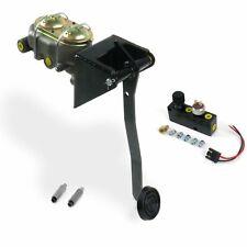 Universal FW Manual Brake Pedal kit Adj Disk/DrumSm Oval Blk Pad hot rods rod
