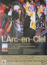 "L'ARC-EN-CIEL ""LIVE TWENITY"" ASIAN PROMO POSTER - Japanese Rock Music"
