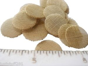 (40) Heavy Duty Brass Pipe Screens (Approximately Dime Size) **Free Shipping**