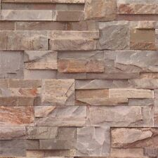 BROWN BRICK BRICK NATURAL TEXTURED MURIVA FEATURE DESIGNER WALLPAPER J27408