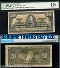 OSBORNE TOWERS 1937 $20 Bank Of Canada PMG Graded Banknote