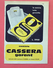 C563-Advertising Pubblicità-1959 - CASSERA CAMICIA GARANT