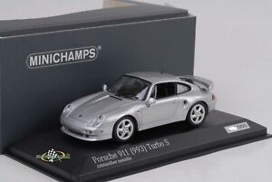 Porsche 911 993 Turbo S 3.6 Arctic Silver 1998 1:43 Minichamps Diecast 300pcs