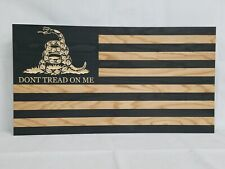 "39"" Dont Tread On Me Flag Gun Concealment Cabinet Hidden Home Defense Storage"