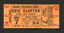 1975 Eric Clapton Unused Concert Ticket Honolulu There's One In Every Crowd Tour