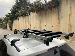 Roof Rack and Load Stops Ladder Tilt For RAM PROMASTER CITY 2015-2021 Silver